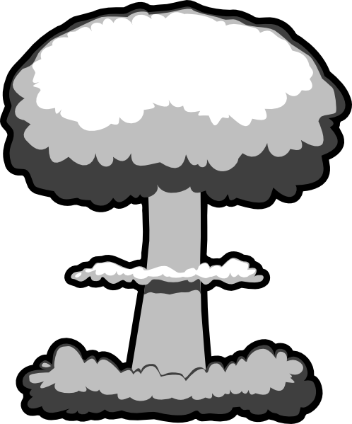 Atomic Bomb Clipart. Atomic Bomb Black And White .