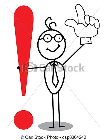 Business Attention exclamation mark - csp8364242