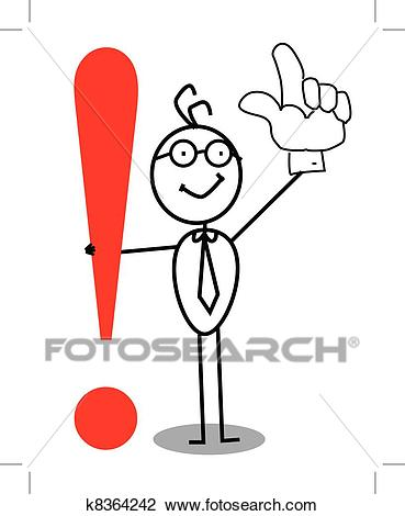 Clipart - Business Attention exclamation mark. Fotosearch - Search Clip Art,  Illustration Murals,