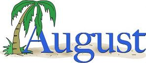 August and palm tree