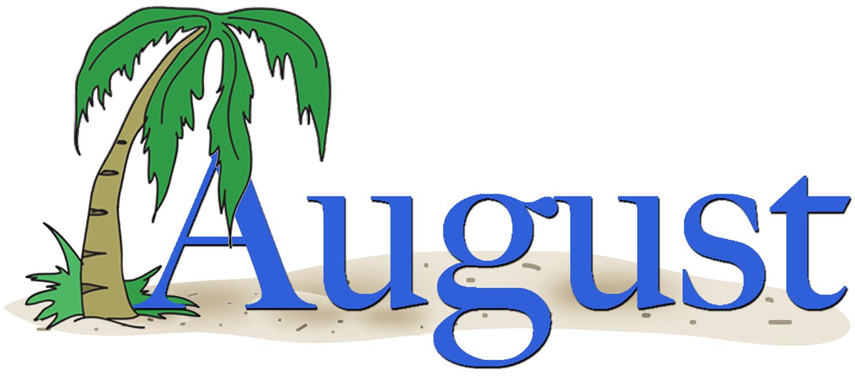 August clip art image