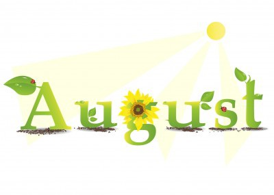 August clipart by month image