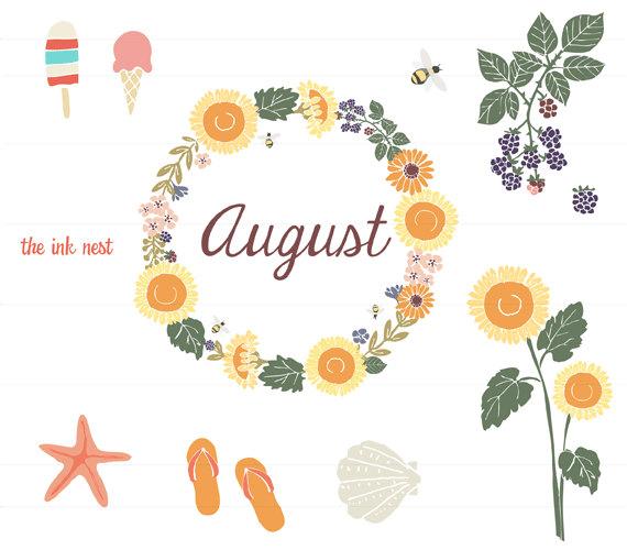 August Clipart Free Clip Art Images