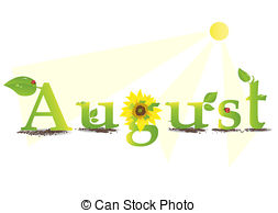 ... august - Vector illustration representing the concept of... ...