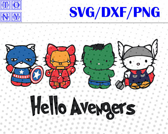 hello avengers svg,dxf,png/hello avengers clipart