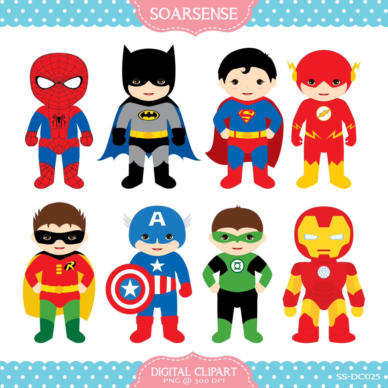 Superhero Clipart Superhero Digital Clipart by hjIllustrations, $5.00  https://www.etsy clipartlook.com/listing/194238381/superhero-clipart -superhero-digital?ru2026