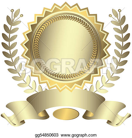 Award and ribbons u0026middot; Silvery award with ribbon (vector)