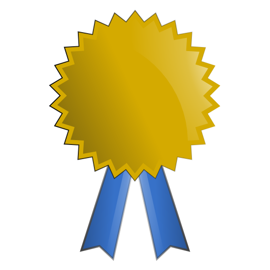 Clip Art Awards Gold Medal Clipart #1