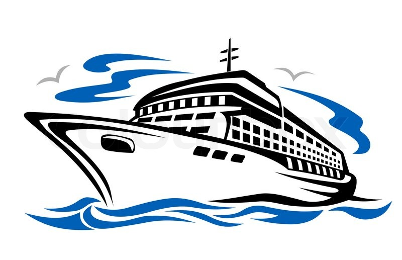 Awesome cruise ship clipart