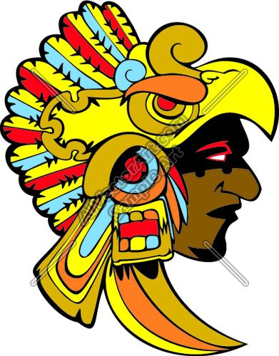Aztec05v4clr Clipart And Vectorart Sports Mascots Aztecs Mascot