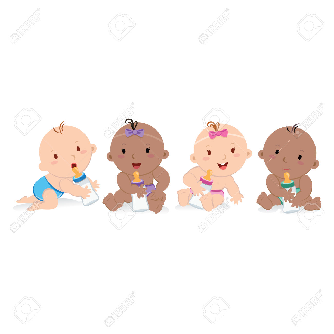 Baby Clipart Multicultural #8