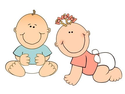 Two Babies Clipart #1