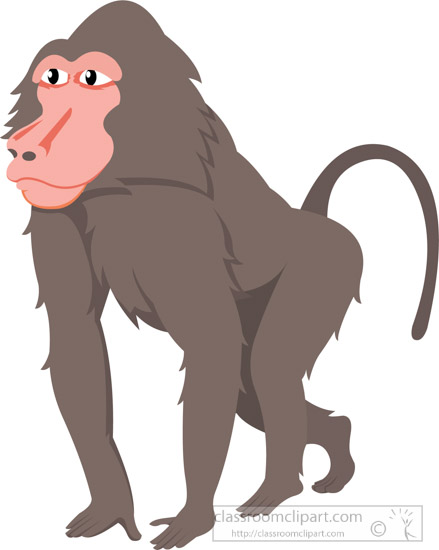 baboon sideview walking clipart. Size: 58 Kb