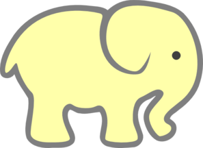 baby elephant clipart outline