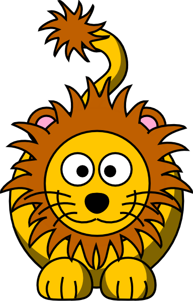 baby lion face clipart