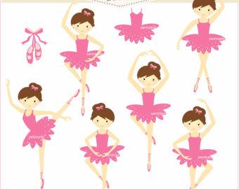 Baby Ballerina Tutu Clipart Girls Clip Art