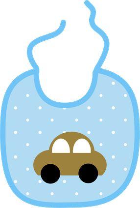 Baby Bib Clip Art. BabyBoy_PaperVerde2_Momis Designs