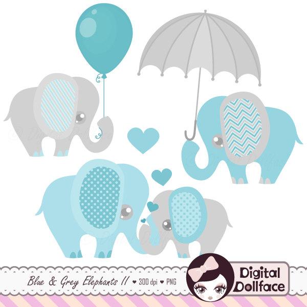 Baby Boy Elephant Clipart, Cute Elephant Clip Art Images