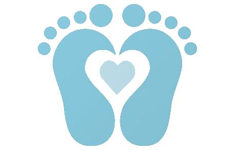Baby Boy Footprints Clipart .