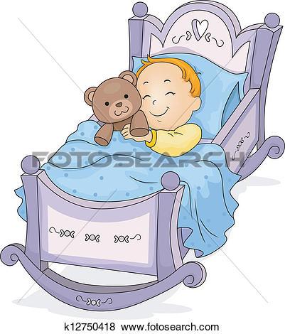Baby Boy on Cradle