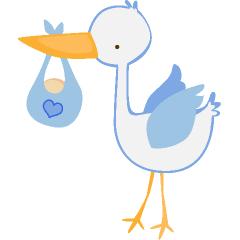 Baby boy stork clip art clipart