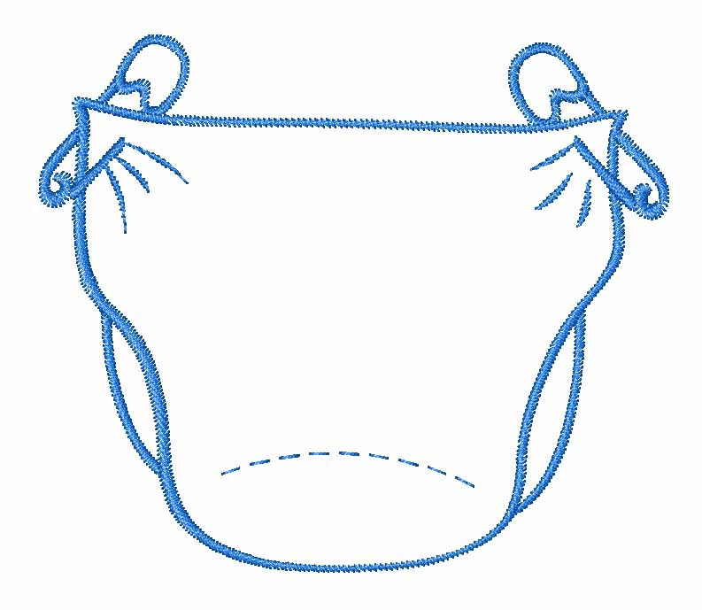 Baby Diaper Outline Clip Art