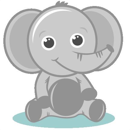 Baby elephant clipart 2
