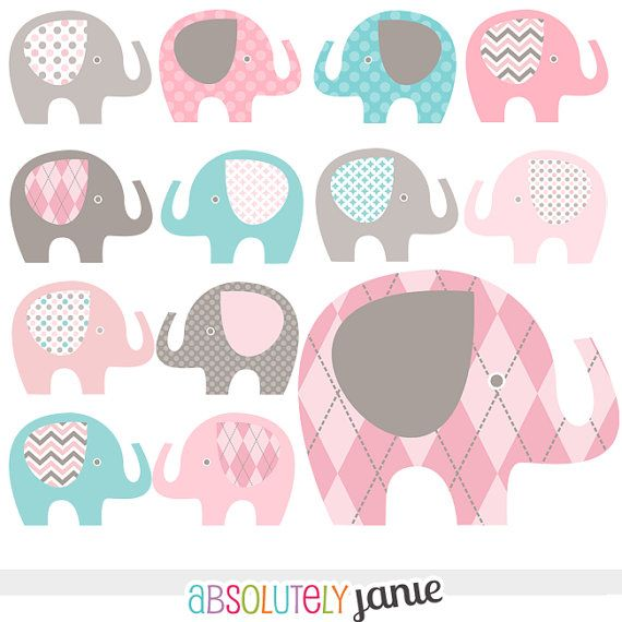 Baby elephant clipart baby .