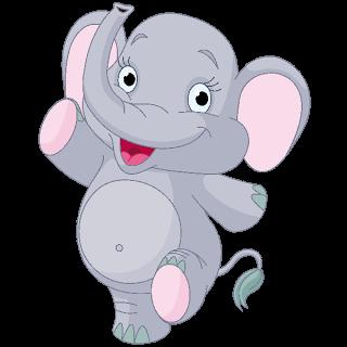 Baby Elephant Dark Blue Clip Art Images