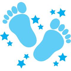 Baby blue border clipart: baby feet border clip art http