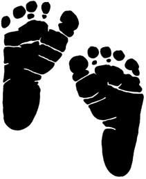 baby foot prints in a heart clipart