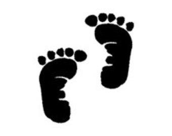 Black Baby Feet Clipart #1
