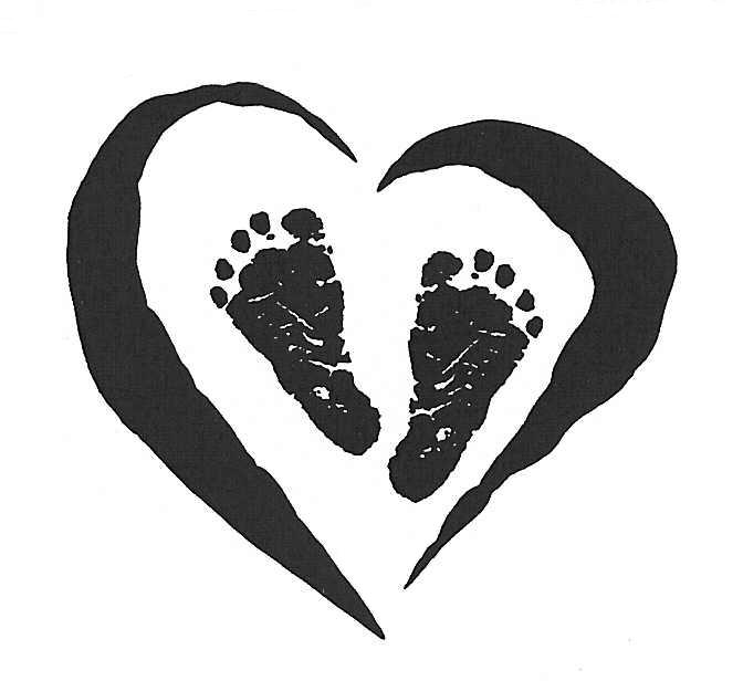 Feet clipart baby foot heart #3