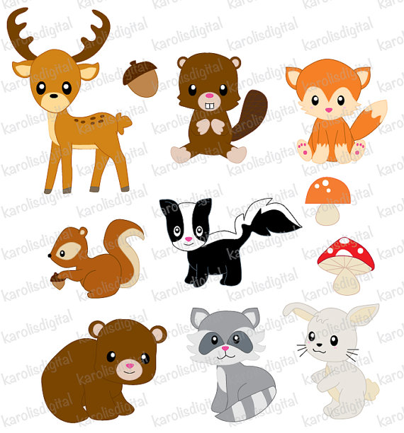 Baby Forest Animal Clipart