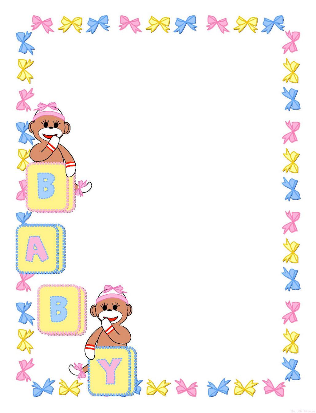 Baby Girl Border Clip Art Free
