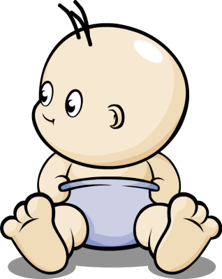 Baby in diaper clipart clipart