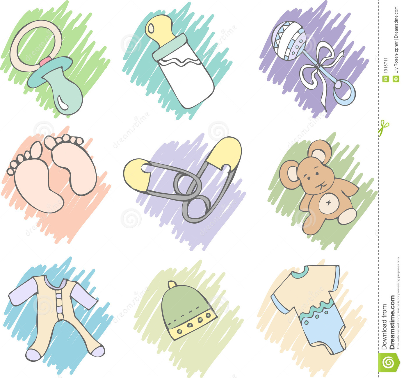 Baby Items Stock Image Image 1915711