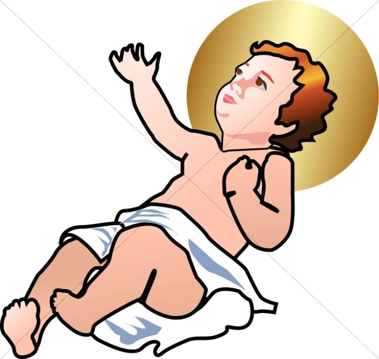 Baby jesus clipart 8