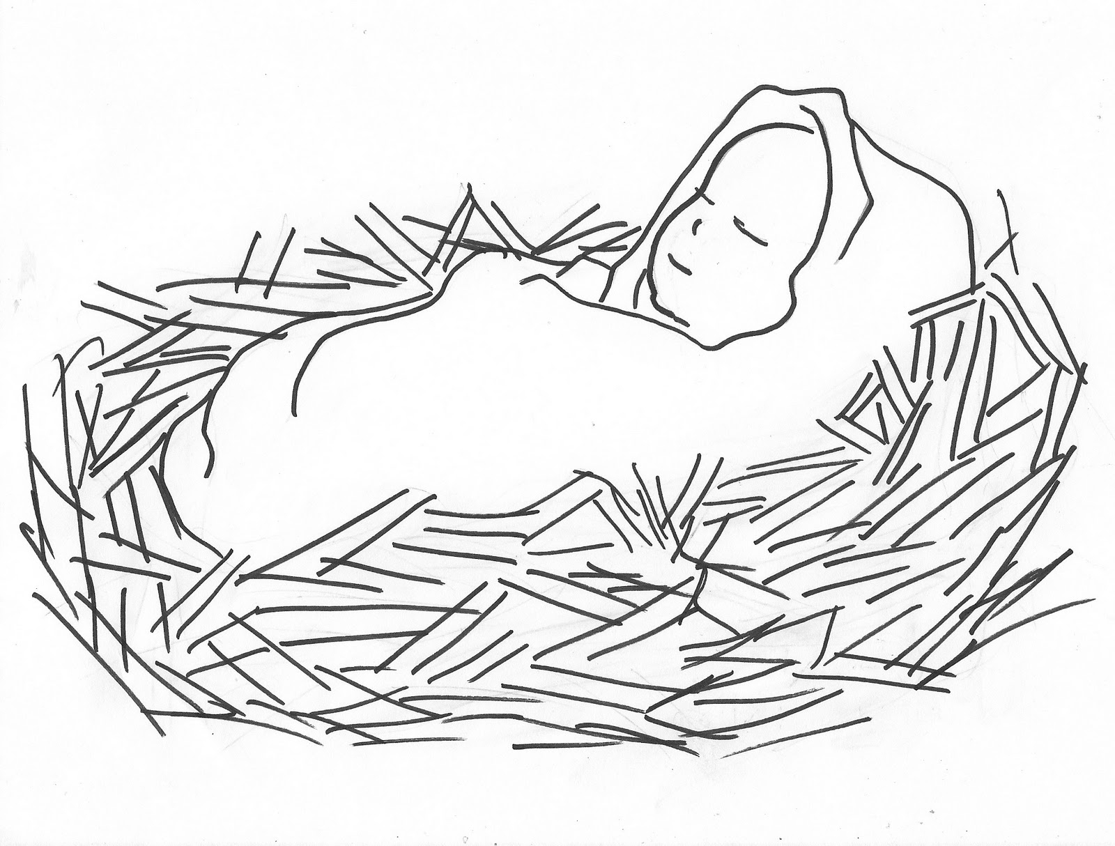 Baby Jesus Clipart Black And ..