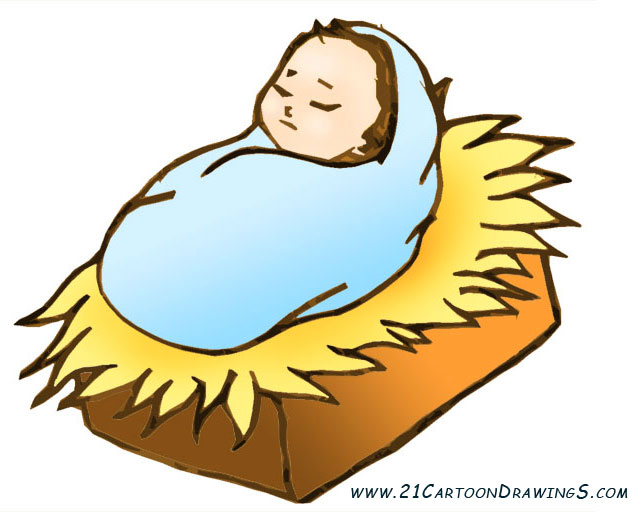 ... Baby jesus in a manger clipart ...