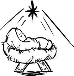 Baby jesus jesus crib clipart clipartfox