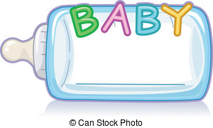 Baby Milk Bottle - Text Illustration Featuring the Word Baby Baby Milk Bottle Clip Artby ...