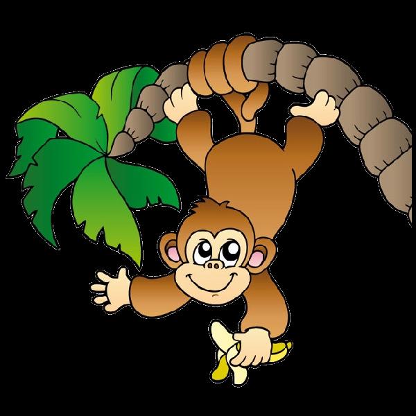 Baby Monkey Clip Art Black And ..