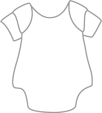 Baby Onesie Shirts Clip Art