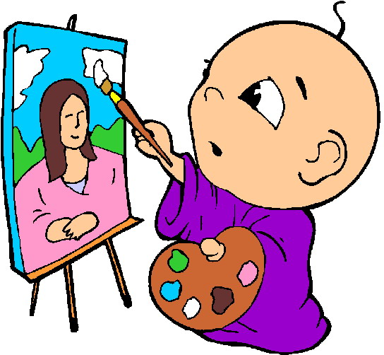 Baby paint clipart