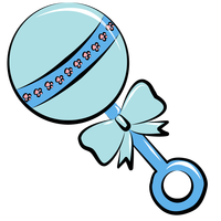 Baby rattle clip art. finalis - Baby Rattle Clipart