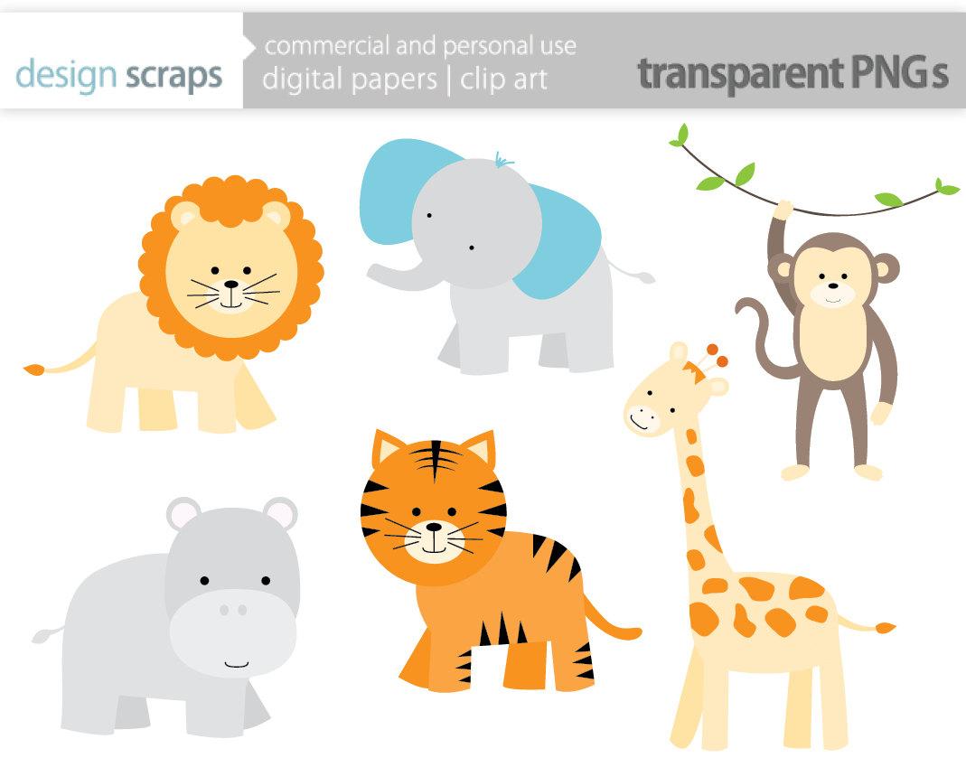 Baby Safari Animals Clipart #1