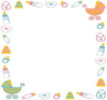 Baby Shower Border Clip Art