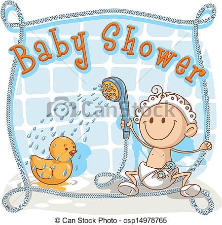 Baby Shower Cartoon .