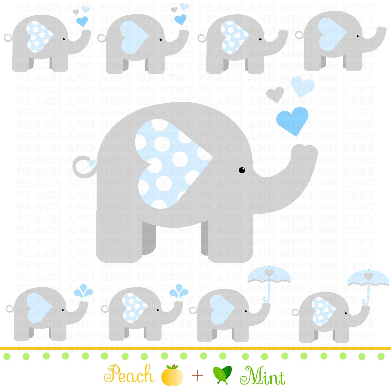 Baby Shower Elephant Clip Art